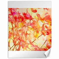 Monotype Art Pattern Leaves Colored Autumn Canvas 36  X 48