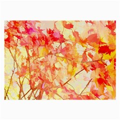 Monotype Art Pattern Leaves Colored Autumn Large Glasses Cloth (2 Side)