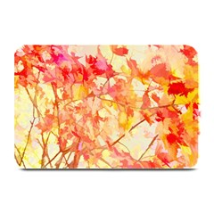 Monotype Art Pattern Leaves Colored Autumn Plate Mats