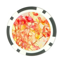 Monotype Art Pattern Leaves Colored Autumn Poker Chip Card Guards