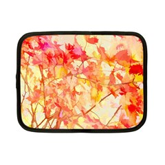 Monotype Art Pattern Leaves Colored Autumn Netbook Case (small)
