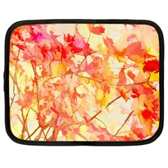 Monotype Art Pattern Leaves Colored Autumn Netbook Case (large)