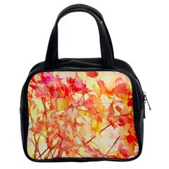 Monotype Art Pattern Leaves Colored Autumn Classic Handbags (2 Sides)