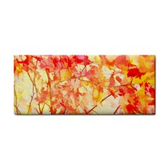 Monotype Art Pattern Leaves Colored Autumn Cosmetic Storage Cases