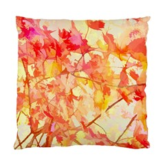 Monotype Art Pattern Leaves Colored Autumn Standard Cushion Case (two Sides)