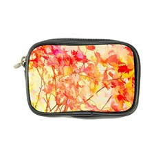 Monotype Art Pattern Leaves Colored Autumn Coin Purse