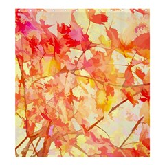 Monotype Art Pattern Leaves Colored Autumn Shower Curtain 66  X 72  (large)