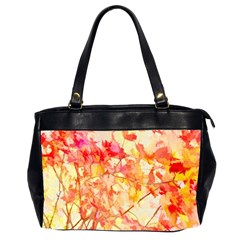 Monotype Art Pattern Leaves Colored Autumn Office Handbags (2 Sides)
