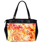 Monotype Art Pattern Leaves Colored Autumn Office Handbags (2 Sides)  Back