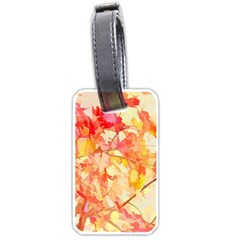 Monotype Art Pattern Leaves Colored Autumn Luggage Tags (two Sides)