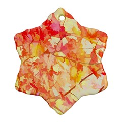 Monotype Art Pattern Leaves Colored Autumn Ornament (snowflake)