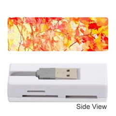 Monotype Art Pattern Leaves Colored Autumn Memory Card Reader (stick)