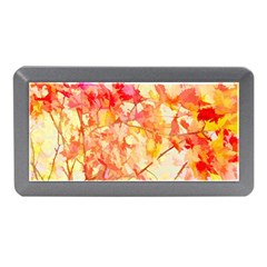 Monotype Art Pattern Leaves Colored Autumn Memory Card Reader (Mini)