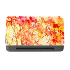 Monotype Art Pattern Leaves Colored Autumn Memory Card Reader With Cf
