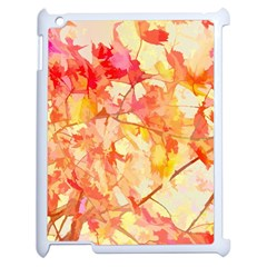 Monotype Art Pattern Leaves Colored Autumn Apple Ipad 2 Case (white)