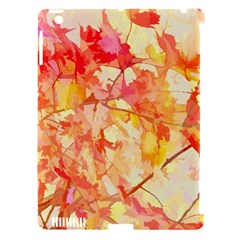 Monotype Art Pattern Leaves Colored Autumn Apple Ipad 3/4 Hardshell Case (compatible With Smart Cover)