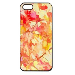 Monotype Art Pattern Leaves Colored Autumn Apple Iphone 5 Seamless Case (black)