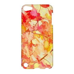 Monotype Art Pattern Leaves Colored Autumn Apple Ipod Touch 5 Hardshell Case