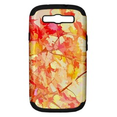 Monotype Art Pattern Leaves Colored Autumn Samsung Galaxy S Iii Hardshell Case (pc+silicone)