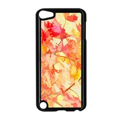 Monotype Art Pattern Leaves Colored Autumn Apple Ipod Touch 5 Case (black)