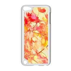 Monotype Art Pattern Leaves Colored Autumn Apple Ipod Touch 5 Case (white)