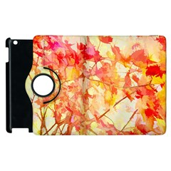 Monotype Art Pattern Leaves Colored Autumn Apple Ipad 2 Flip 360 Case