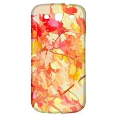 Monotype Art Pattern Leaves Colored Autumn Samsung Galaxy S3 S Iii Classic Hardshell Back Case
