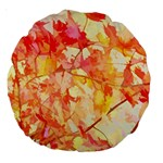 Monotype Art Pattern Leaves Colored Autumn Large 18  Premium Round Cushions Front