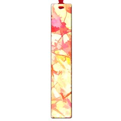 Monotype Art Pattern Leaves Colored Autumn Large Book Marks