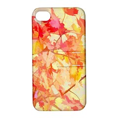 Monotype Art Pattern Leaves Colored Autumn Apple Iphone 4/4s Hardshell Case With Stand