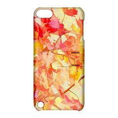 Monotype Art Pattern Leaves Colored Autumn Apple Ipod Touch 5 Hardshell Case With Stand