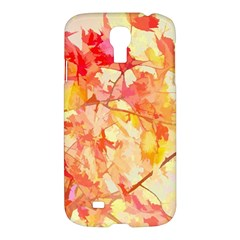 Monotype Art Pattern Leaves Colored Autumn Samsung Galaxy S4 I9500/i9505 Hardshell Case