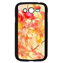 Monotype Art Pattern Leaves Colored Autumn Samsung Galaxy Grand Duos I9082 Case (black)
