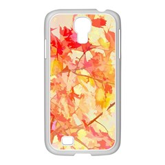 Monotype Art Pattern Leaves Colored Autumn Samsung Galaxy S4 I9500/ I9505 Case (white)