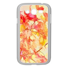 Monotype Art Pattern Leaves Colored Autumn Samsung Galaxy Grand Duos I9082 Case (white)