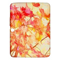 Monotype Art Pattern Leaves Colored Autumn Samsung Galaxy Tab 3 (10 1 ) P5200 Hardshell Case