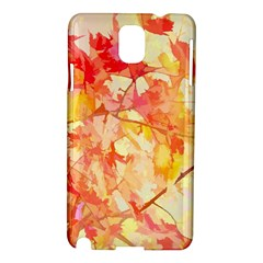 Monotype Art Pattern Leaves Colored Autumn Samsung Galaxy Note 3 N9005 Hardshell Case