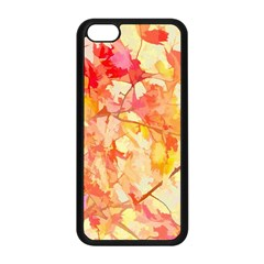 Monotype Art Pattern Leaves Colored Autumn Apple Iphone 5c Seamless Case (black)