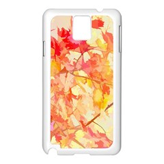 Monotype Art Pattern Leaves Colored Autumn Samsung Galaxy Note 3 N9005 Case (White)