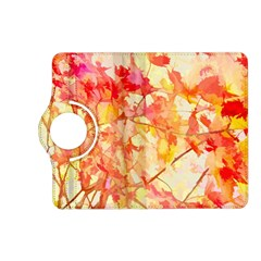 Monotype Art Pattern Leaves Colored Autumn Kindle Fire Hd (2013) Flip 360 Case