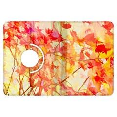 Monotype Art Pattern Leaves Colored Autumn Kindle Fire Hdx Flip 360 Case