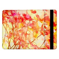 Monotype Art Pattern Leaves Colored Autumn Samsung Galaxy Tab Pro 12 2  Flip Case
