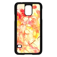 Monotype Art Pattern Leaves Colored Autumn Samsung Galaxy S5 Case (black)
