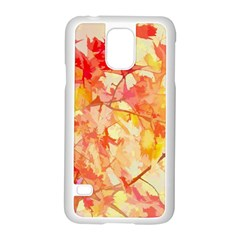 Monotype Art Pattern Leaves Colored Autumn Samsung Galaxy S5 Case (white)