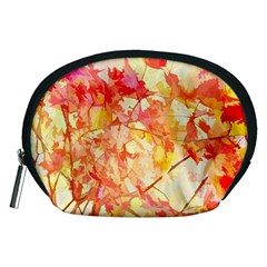 Monotype Art Pattern Leaves Colored Autumn Accessory Pouches (medium)