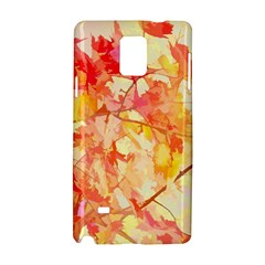 Monotype Art Pattern Leaves Colored Autumn Samsung Galaxy Note 4 Hardshell Case