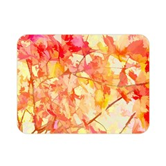 Monotype Art Pattern Leaves Colored Autumn Double Sided Flano Blanket (mini)