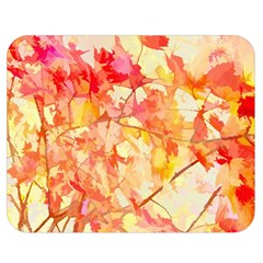 Monotype Art Pattern Leaves Colored Autumn Double Sided Flano Blanket (medium)