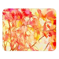 Monotype Art Pattern Leaves Colored Autumn Double Sided Flano Blanket (large)