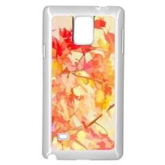 Monotype Art Pattern Leaves Colored Autumn Samsung Galaxy Note 4 Case (white)